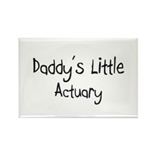 Daddy's Little Actuary Rectangle Magnet