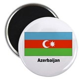 Azerbaijan Flag 2.25&quot; Magnet (10 pack)