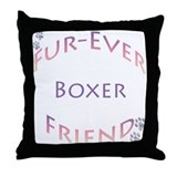 Boxer Furever Throw Pillow