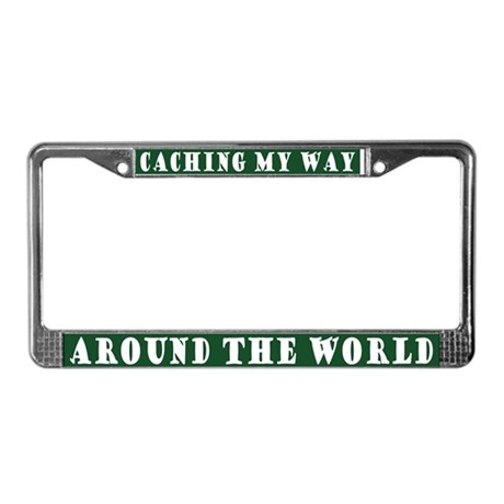 Geocaching World License Plate Frame