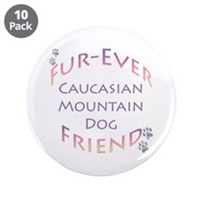 "Caucasian Furever 3.5"" Button (10 pack)"