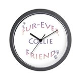 Collie Furever Wall Clock