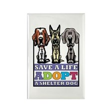 Adopt a Shelter Dog Rectangle Magnet (10 pack)