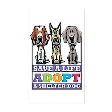 Adopt a Shelter Dog Rectangle Decal