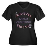 Dogo Furever Women's Plus Size V-Neck Dark T-Shirt