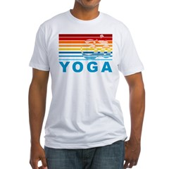 Colorful Yoga Om Fitted T-Shirt