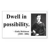 Emily Dickinson 2 Rectangle Decal