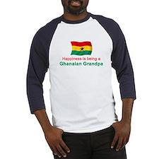 Happy Ghanaian Grandpa Baseball Jersey