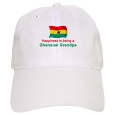 Happy Ghanaian Grandpa Baseball Cap