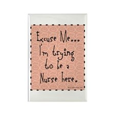 Trying to be Nurse II Rectangle Magnet (100 pack)
