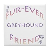 Greyhound Furever Tile Coaster