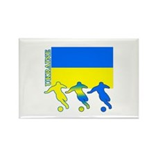 Ukraine Soccer Rectangle Magnet