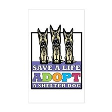 Adopt a German Shepherd Rectangle Decal