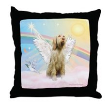 Angel / Italian Spinone Throw Pillow