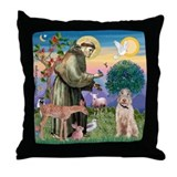 Saint Francis /Spinone(w) Throw Pillow