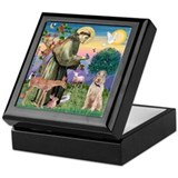 Saint Francis /Spinone(w) Keepsake Box