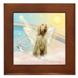 Angel / Italian Spinone Framed Tile