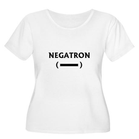 NEGATRON Women's Plus Size Scoop Neck T-Shirt
