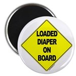 Loaded Diaper on Board - Magnet
