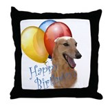 Greyhound Balloon Throw Pillow