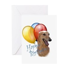Greyhound Balloon Greeting Card