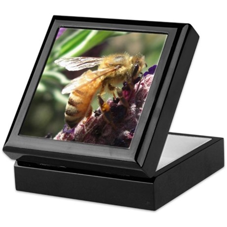 Bee on Flower Keepsake Box