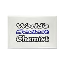 """World's Sexiest Chemist"" Rectangle Magnet (100 pa"