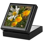 Poppies and White Flower Keepsake Box