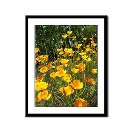 Field of Poppies Framed Panel Print