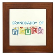 Granddaddy of Twins Blocks Framed Tile