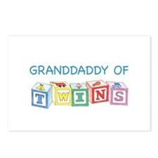 Granddaddy of Twins Blocks Postcards (Package of 8