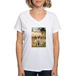 Garden Fiorito/ Spinone Women's V-Neck T-Shirt