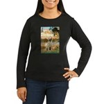 Garden Fiorito/ Spinone Women's Long Sleeve Dark T