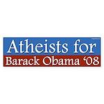 Atheists for Barack Obama bumper sticker