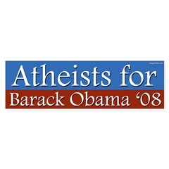 Atheists for Barack Obama bumper sticker