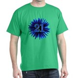 21st Blue Spray T-Shirt