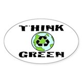 """THINK GREEN"" Oval Decal"