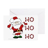 Santa Christmas Cards (Pkg. of 6, blank inside)