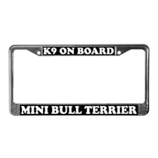 K9 Miniature Bull Terrier License Plate Frame