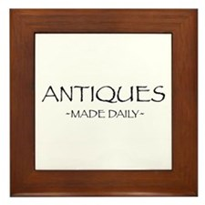 Antiques Made Daily Framed Tile