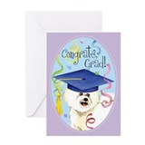 Bichon Graduate Greeting Card