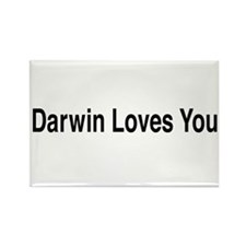 Darwin Loves You Rectangle Magnet (10 pack)