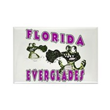 Florida Everglades Alligators Rectangle Magnet