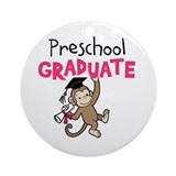 Preschool Graduate - Monkey (Pink) Ornament (Round