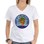 607th AC&W Squadron Women's V-Neck T-Shirt