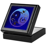 YinYang Cats Keepsake Box