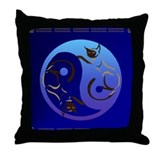 YinYang Cats Throw Pillow