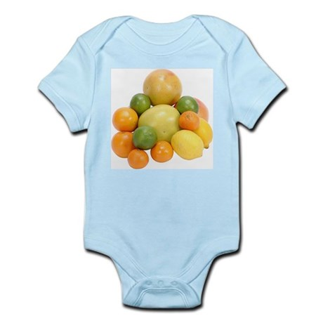 Some Citrus Fruit On Your Infant Creeper