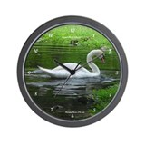 Unique Swans Wall Clock