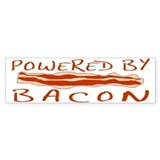 Powered By Bacon Car Sticker